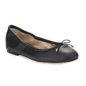 Sam Edelman - Felicia Black Leather Flats excellen